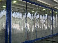 Шторы ПВХ прозрачная со вставками по периметру